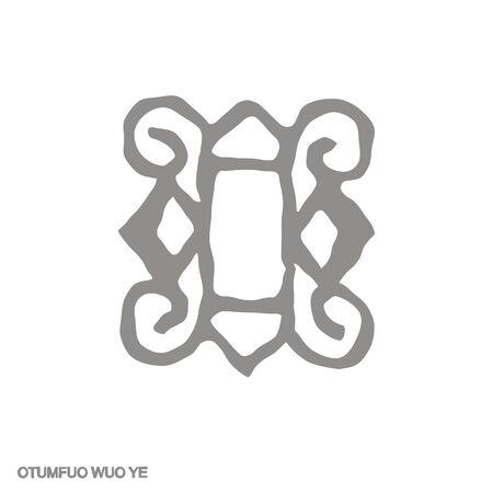 icon with Adinkra symbol Otumfuo Wuo Ye