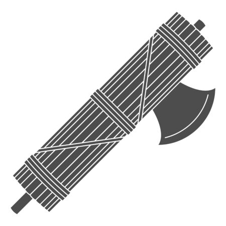 vector icon with Roman Fasces 向量圖像