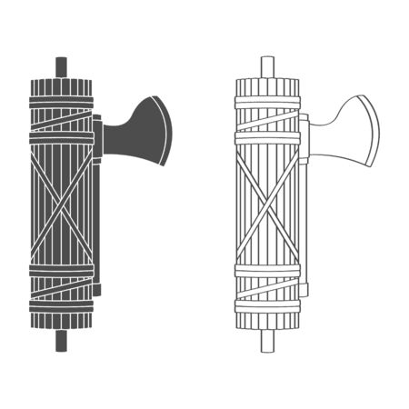 vector icon with Roman Fasces 矢量图像