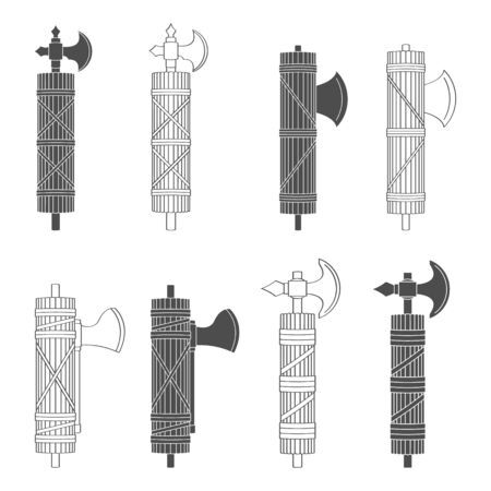 vector set with Roman Fasces