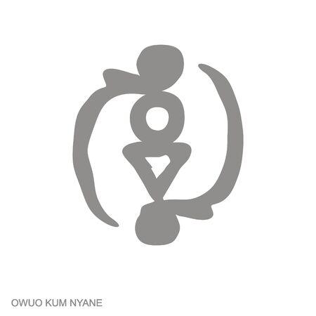 icon with Adinkra symbol Owuo Kum Nyane
