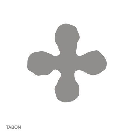 icon with adinkra symbol tabon