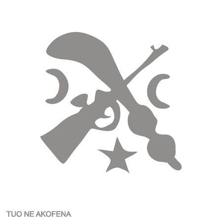 icon with Adinkra symbol Tuo Ne Akofena 向量圖像