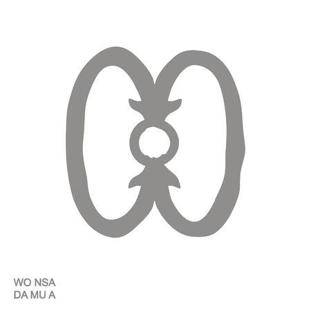 icon with Adinkra symbol Wo Nsa Da Mu A