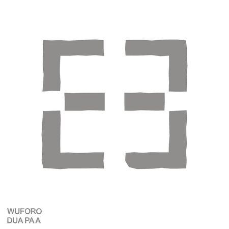 icon with Adinkra symbol Wuforo Dua Paa 向量圖像
