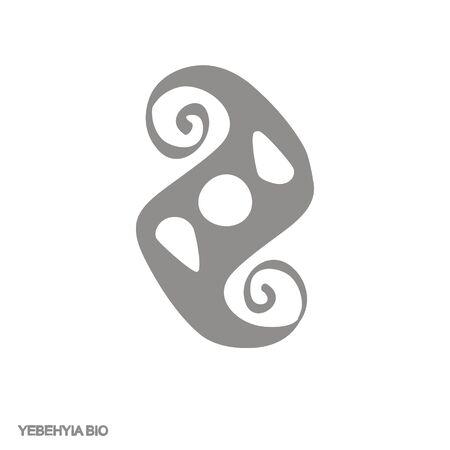 icon with Adinkra symbol Yebehyia Bio