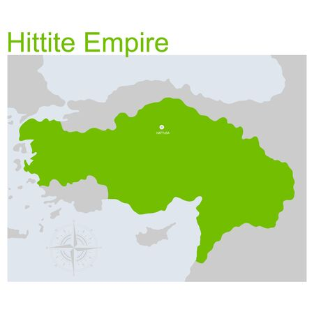 vector map of the hittite empire for your design Ilustrace