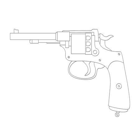 Vector monochrome icon with Revolver