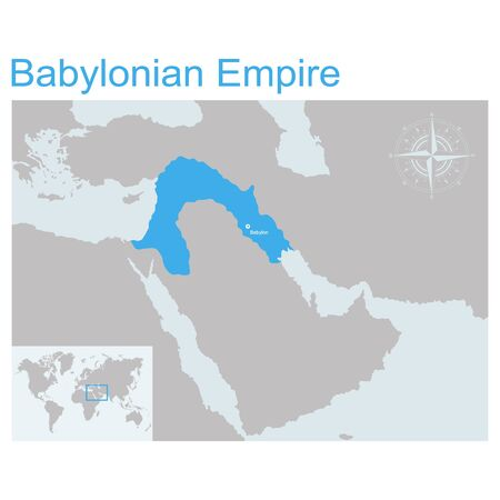 vector map of Babylonian Empire for your design
