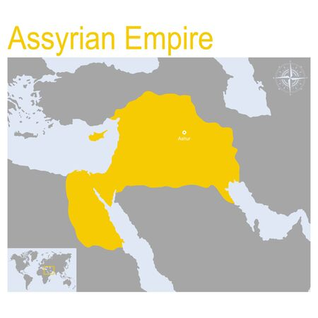 vector map of Assyrian Empire 일러스트