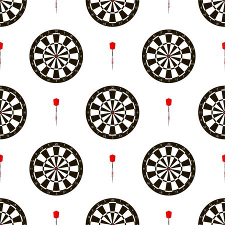 Seamless pattern with dartboards for darts game