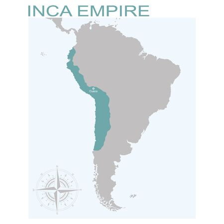 vector map of the Inca Empire  イラスト・ベクター素材