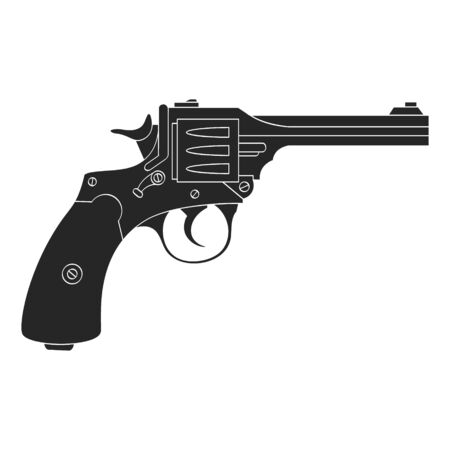 Vector monochrome icon with Revolver