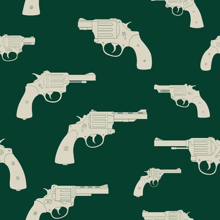 Seamless vector pattern with Revolvers