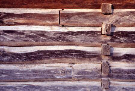 wall of log house