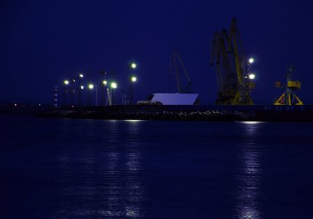 port of Burgas in the night