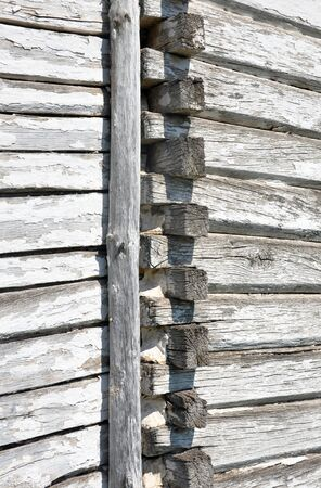 old wooden wall background Banco de Imagens