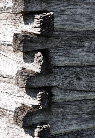 wall of log house Stock Photo