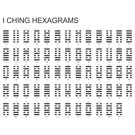 Vector symbols with I Ching Hexagrams