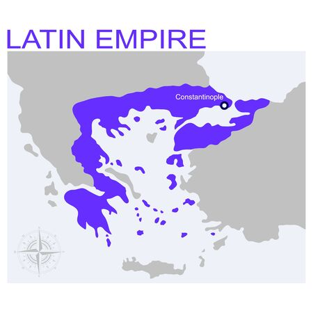 vector map of the latin empire for your design