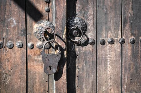 Old iron padlock for your design