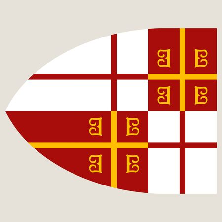 vector image with the Byzantine Imperial flag