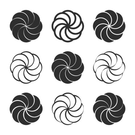icon set with Armenian eternity sign Arevakhach  イラスト・ベクター素材