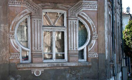 Old Art Nouveau house in Burgas, Bulgaria