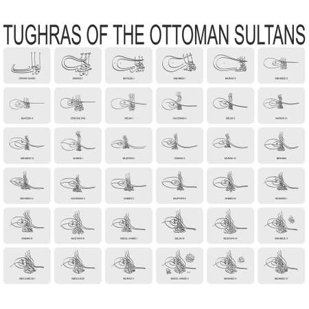 Tughras a signatures of the Ottoman sultans