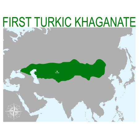 vector map of the First Turkic Khaganate for your design