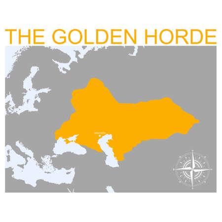 vector map of the Golden Horde