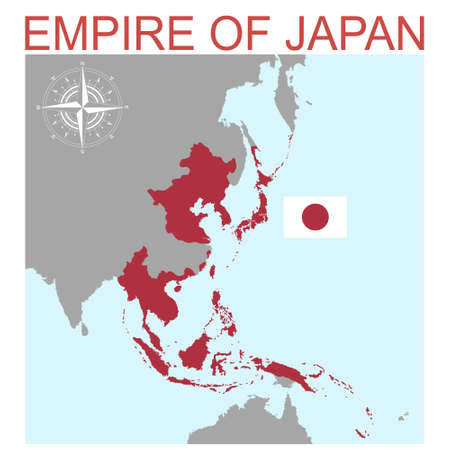 vector map of the Empire of Japan for your design