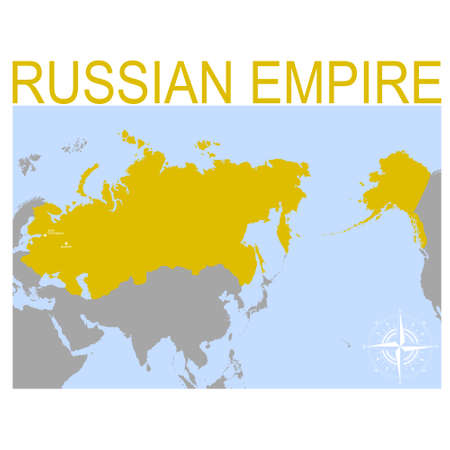 vector map of the Russian Empire for your design Ilustração