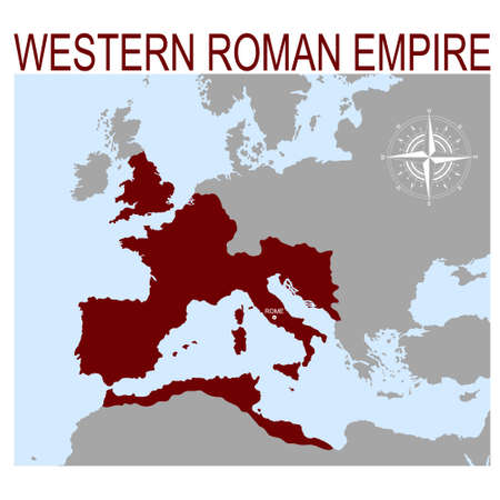 vector map of the Western Roman Empire
