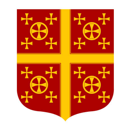 vector image with Coat of arms of the Latin Empire