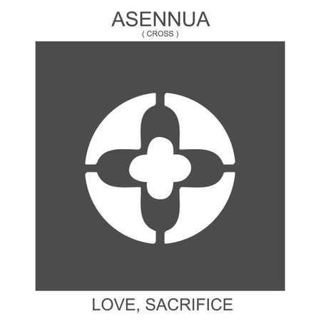 vector icon with african adinkra symbol Asennua. Symbol of love and sacrific 向量圖像