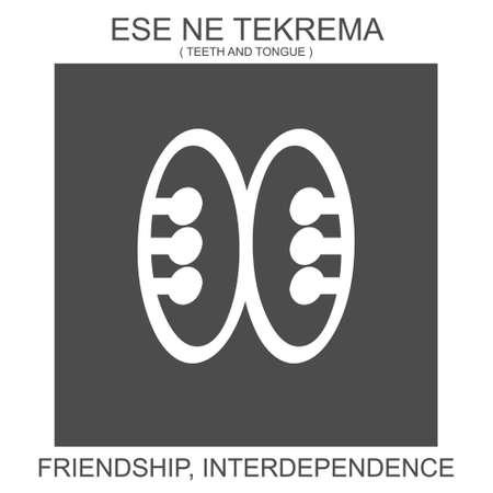 vector icon with african adinkra symbol Ese Ne Tekrema. Symbol of friendship and interdependence 向量圖像
