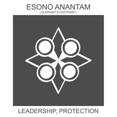 vector icon with african adinkra symbol Esono Anantam. Symbol of leadership and protection 向量圖像