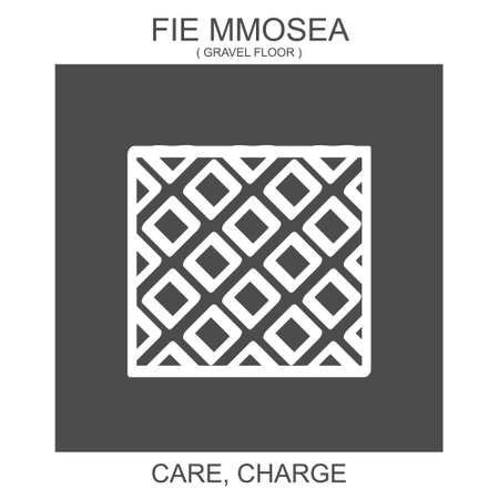 vector icon with african adinkra symbol Fie Mmosea. Symbol of care and charge