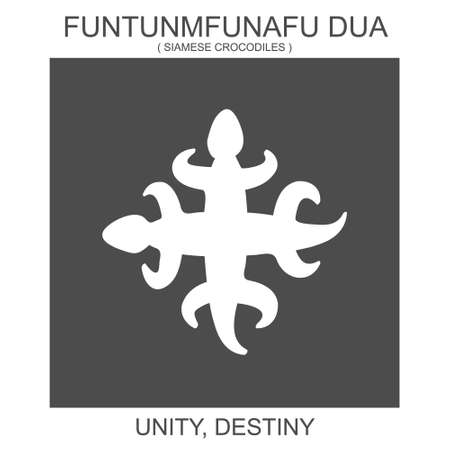 vector icon with african adinkra symbol Funtunmfunafu Dua. Symbol of unity and destiny 向量圖像