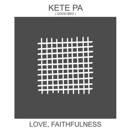 vector icon with african adinkra symbol Kete Pa. Symbol love and faithfulness 向量圖像