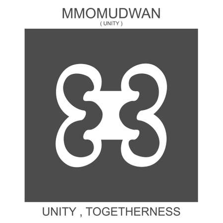 vector icon with african adinkra symbol Mmomudwan. Symbol of unity and togetherness 向量圖像