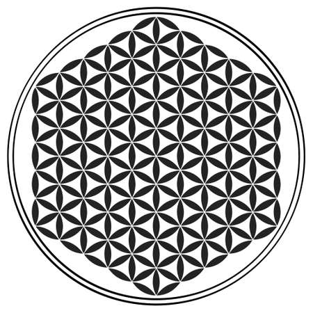 vector icon with ancient symbol flower of life