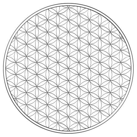 vector icon with ancient symbol flower of life for your project