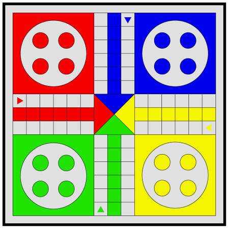 vector image with Ludo board game for your project