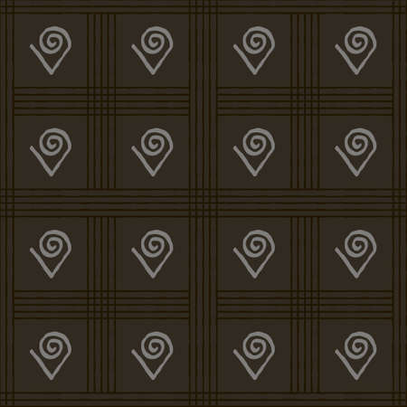 Seamless vector authentic fabric pattern with african adinkra symbols for your project Stock fotó - 161287739
