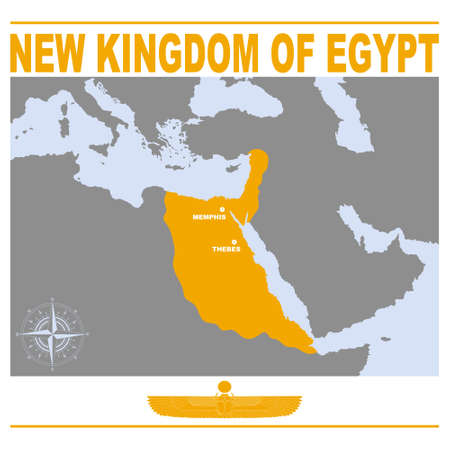 vector map of the New Kingdom of Egypt for your project Illusztráció