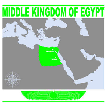 vector map of the Middle Kingdom of Egypt for your project
