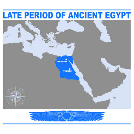 vector map of the Late Period of ancient Egypt for your project