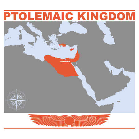 vector map of the Ptolemaic Kingdom for your project